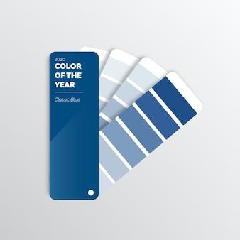 Paleta de cores azul clássica