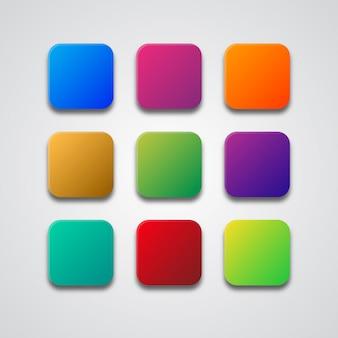 Paleta de cores de gradiente