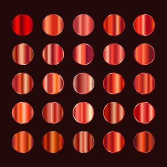 Paleta de cores de metal. textura de aço vermelho alaranjado