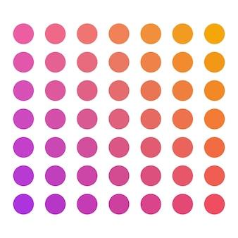 Paleta de cores de vetor de doces