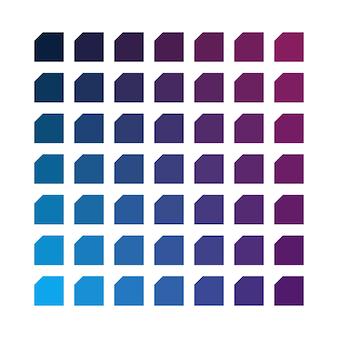 Paleta de cores do vetor de espaço