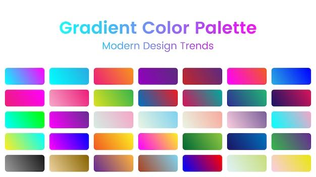 Paleta de cores gradiente
