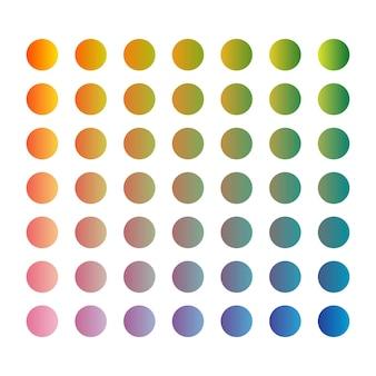 Paleta de cores vetoriais na moda