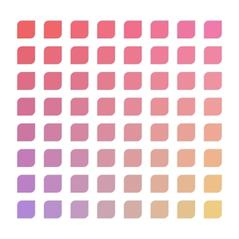 Paleta de cores vetoriais pastel