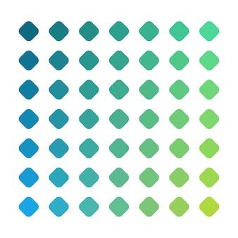 Paleta de cores vetoriais verdes