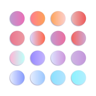 Paleta de gradiente de cor pastel suave