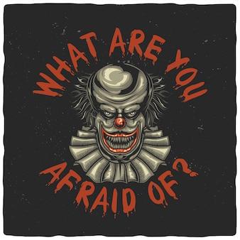 Palhaço assustador