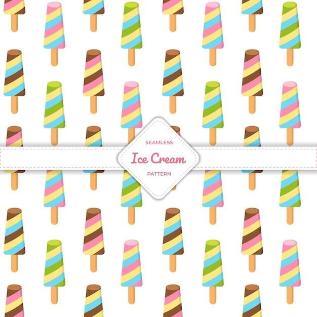 Palito de sorvete de padrão sem emenda