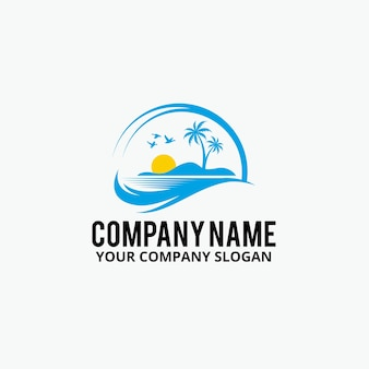 Palm beach logo design