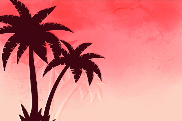 Palm silhouettes wallpaper