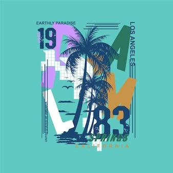 Palm springs verão los angeles surf tipografia camisetas gráficos vetores