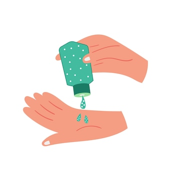 Palmas das mãos anti-sépticas