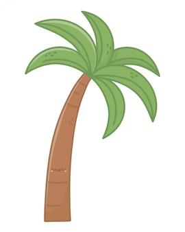 Palmeira da temporada de verão Vetor Premium
