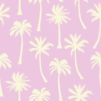 Palmeira padrão. texturas desenhadas mão sem emenda sobre fundo exótico na moda.