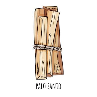 Palo santo aroma da árvore de madeira sagrada varas da américa latina.