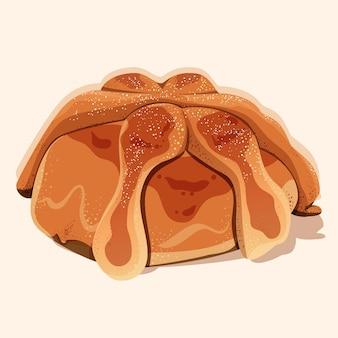 Pan de muerto desenhado à mão