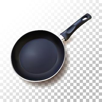Pan de teflon realista de ilustração em transparente