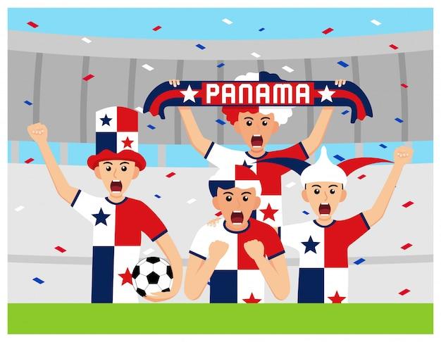 Panamá apoiadores em design plano