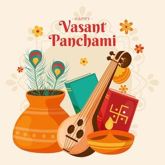 Panchami vassant desenhado à mão