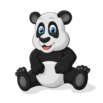 Panda adorável dos desenhos animados