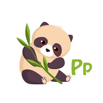 Panda. alfabeto engraçado, animal