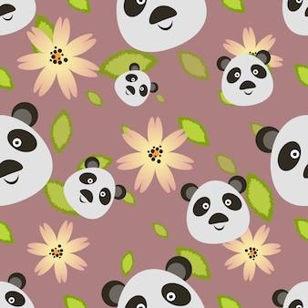 Panda bear pattern background