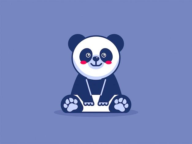 Panda bonito dos desenhos animados ilustração