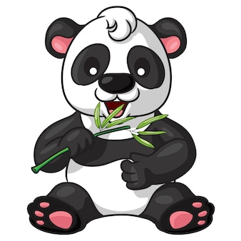 Panda bonito dos desenhos animados