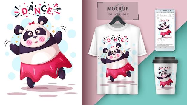 Panda de dança e merchandising