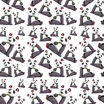 Panda no padrão sem emenda