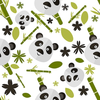 Panda pattern background