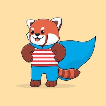 Panda super vermelho bonito