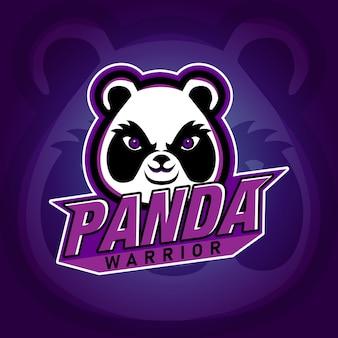 Panda warrior e sport gaming logo