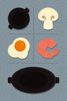 Panela de comida e grelha