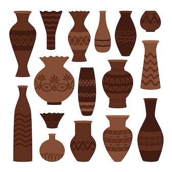 Panelas de barro gregas.