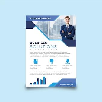 Panfleto abstrato de negócios com foto
