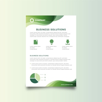 Panfleto abstrato de negócios de modelo