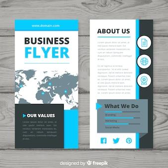 Panfleto colorido de negócios com design abstrato
