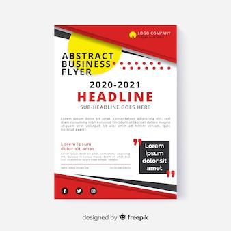 Panfleto comercial abstrato com design corporativo