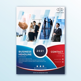 Panfleto comercial abstrato com foto