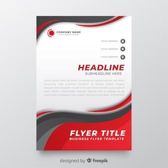 Panfleto comercial abstrato de modelo