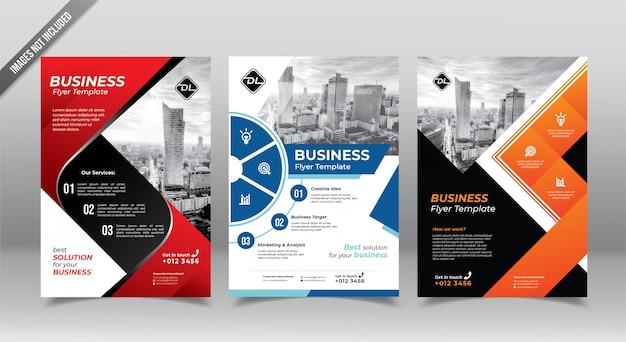 Panfleto comercial corporativo ou modelo de design panfleto.