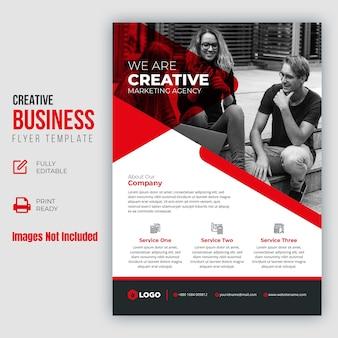 Panfleto comercial criativo