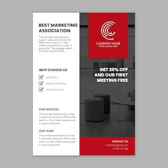 Panfleto comercial de marketing vertical