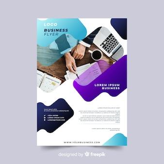 Panfleto comercial de modelo com imagem