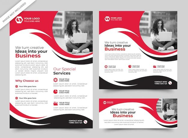 Panfleto comercial e modelos de banner premium