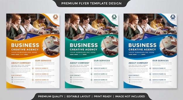 Panfleto comercial minimalista estilo premium
