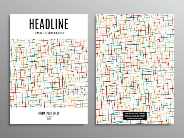 Panfleto comercial, modelo ou folheto de projeto de layout em tamanho a4, com formas abstratas em fundo.