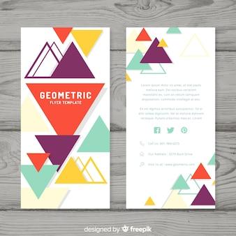 Panfleto comercial moderno com desenho geométrico
