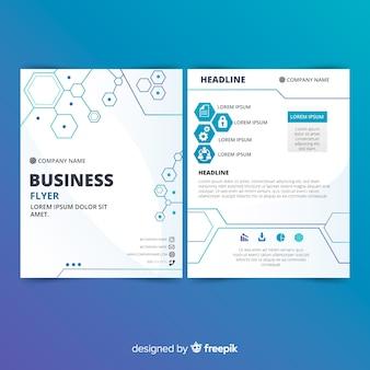Panfleto comercial moderno com design abstrato